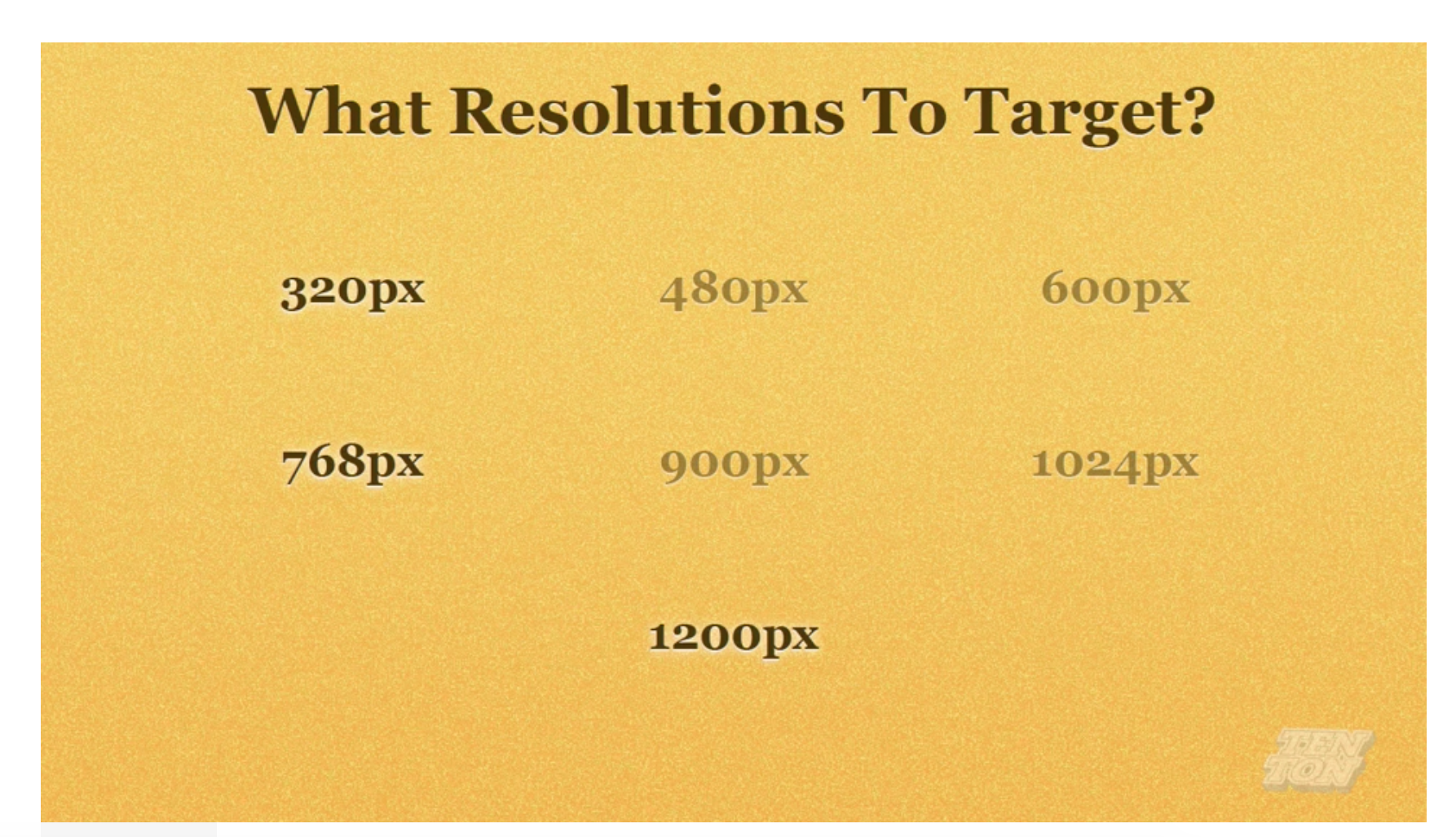 Responsive Web Design What Resolution To target