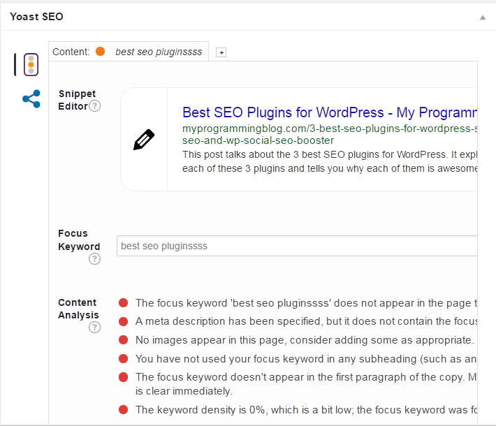 Yoast SEO, one of the best seo plugins for WordPress
