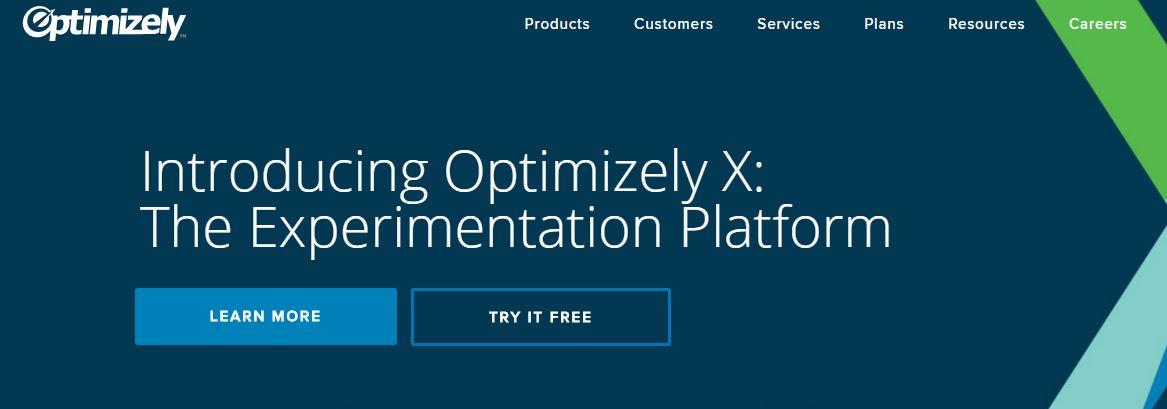 image of optimizely, a wordpress split testing plugin