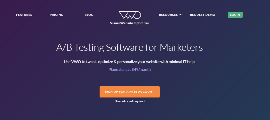 image of the wordpress ab testing plugin, visual website optimizer